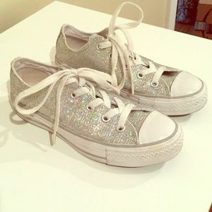 Silver Sequin Chuck Taylor All Star from Converse